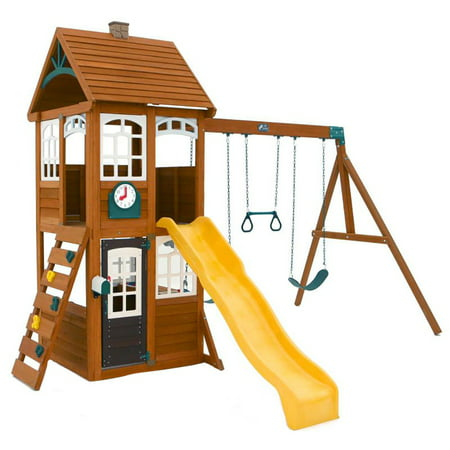 Kidkraft F24950 Mckinley Kids Children Wooden Outdoor Swing Playset Playground