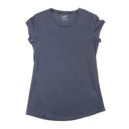 Puma Womens Size Large Regular Fit ESS Logo Short Sleeve Active Tee Shirt, Grey Heather