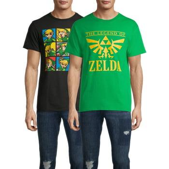 2-Pack Nintendo Zelda Logo & Character  Men's Graphic T-Shirt