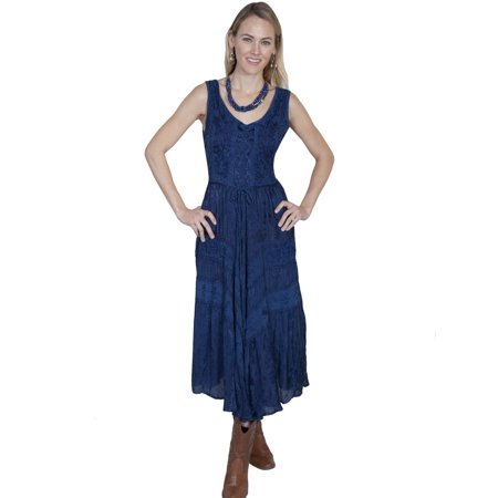 1483879af72 Scully - Scully Western Dress Womens Full Length Lace Up Sleeveless HC118 -  Walmart.com
