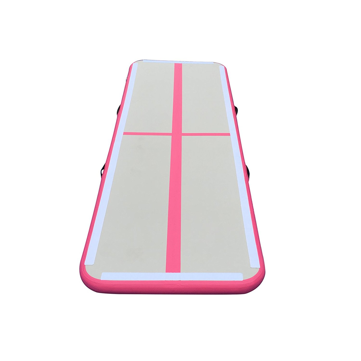 Inflatable Gymnastics Tumbling Mat Inflatable Air Track Home Air Floor GYM Mat Red by BRIS