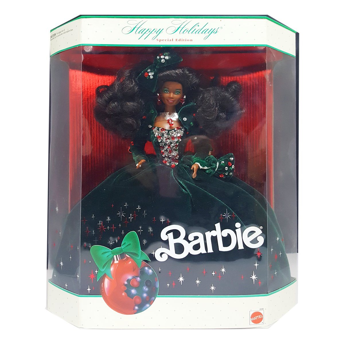 1991 Happy Holidays Barbie African American Special Edition Barbie Doll by Mattel