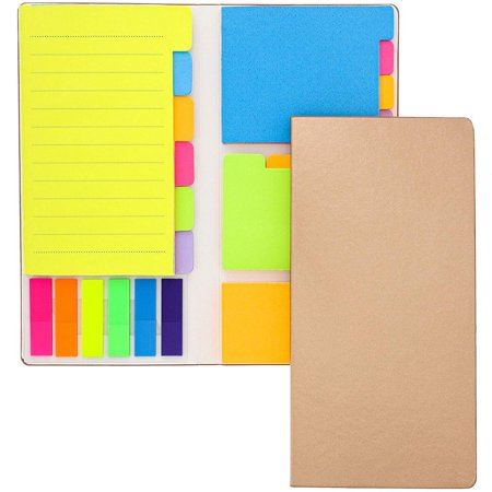 Paper Junkie Neon Colored Sticky Notes Page Marker Tabs Index Dividers Notebook (2 Pack) Colored Sticky Notes