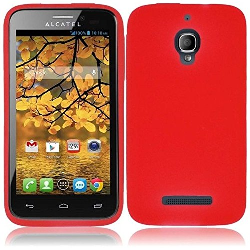 Silicone Case for Alcatel One Touch Fierce 7024W - Red