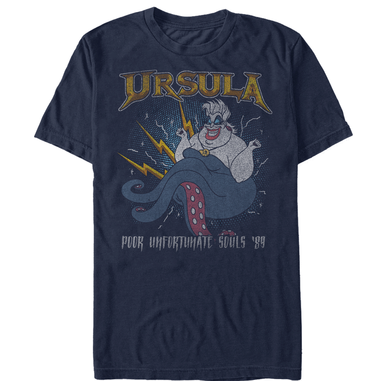 The Little Mermaid Men's Ursula Rocker T-Shirt