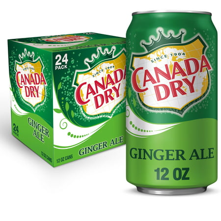 Canada Dry Ginger Ale, 12 fl oz cans, 24 pack