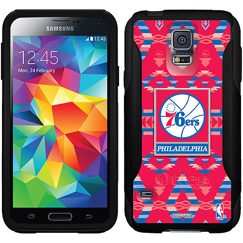 Philadelphia 76ers Tribal Print Design on OtterBox Commuter Series Case for Samsung Galaxy S5