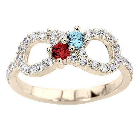 engraved love always mother dp quot com infinity amazon my hearts double for you ring mothers promise
