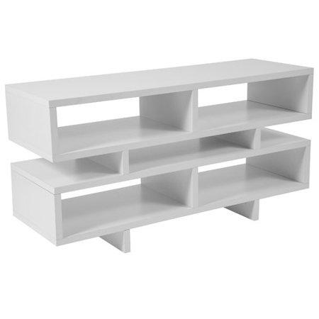 White Media Stand (Flash Furniture Highgate White Finish TV Stand and Media Console )