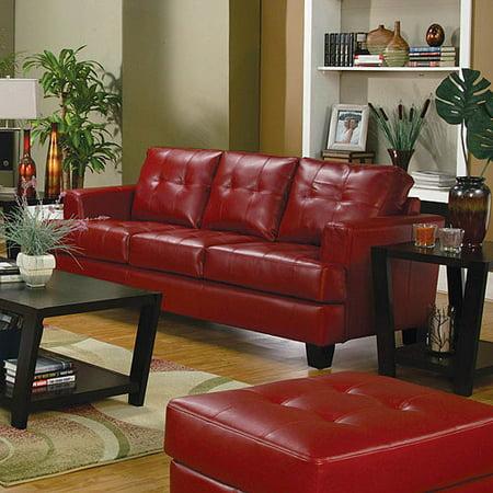Coaster Samuel Bonded Leather Sofa, Multiple Colors