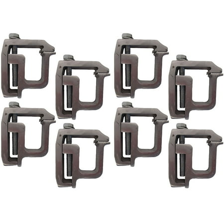 Set of (8) Heavy Duty Truck Cap Topper Camper Shell Mounting Clamps TL-2002