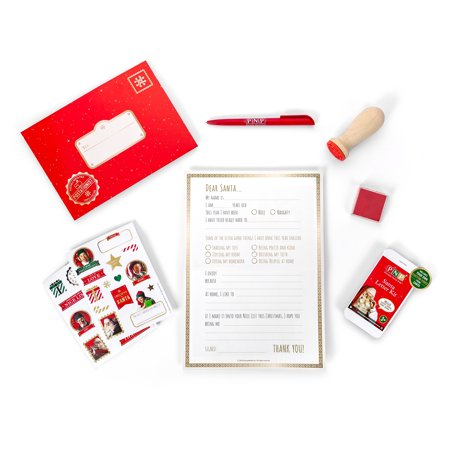 Portable North Pole Santa Letter Kit with Personalized Video Message from - Sparkly Santa