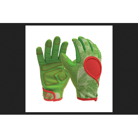 Medium Leather Glove - Digz Signature Green Women's Medium Synthetic Leather Gardening Gloves