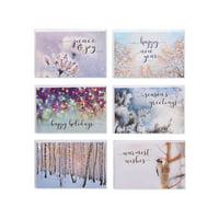 American Greetings 48-Count Value Blank Winter Greeting Card Bundle