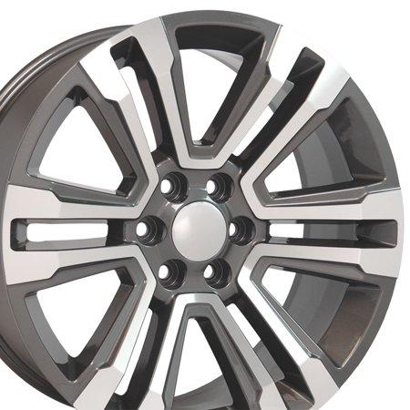 24x10 Wheel Fit GM Chevy Trucks - 2018 GMC Sierra Yukon Denali Style Hyper Black