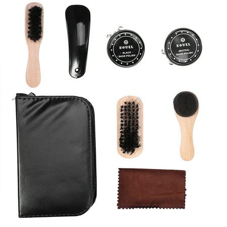 Yosoo 8PCS Leather Shoes Care Tool BootPolishing Cleaning Kit with Black & Neutral Shoe Polishes, Leather Shoes Polishing Kit,Leather Shoes Care Kit - image 4 of 8