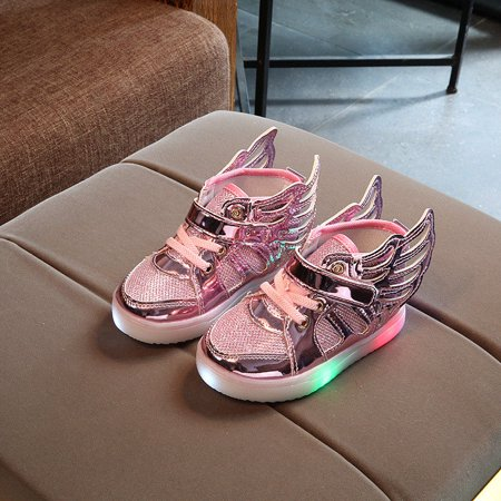 LED Flashing Kids Girls Boy Shoes Wings Light Up Sneaker Child Luminous Trainers - Spiderman Light Up Sneakers