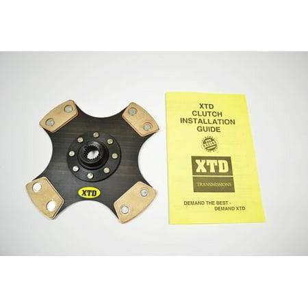 XTD 4 PUCK STAGE 4 RIGID CLUTCH DISC 02-06 RSX TYPE-S 6spd