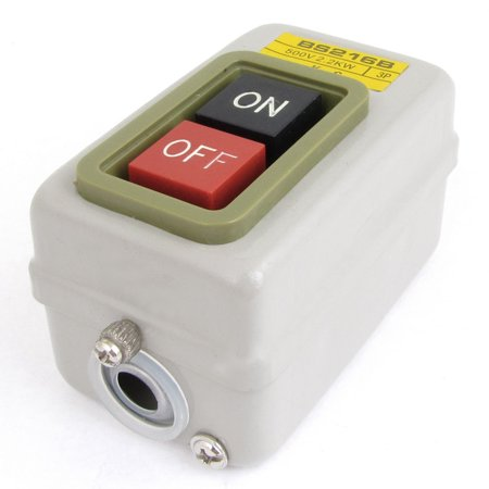 500V 2.2KW Three Phases Control On-Off Locking Push Button Switch - image 1 of 1