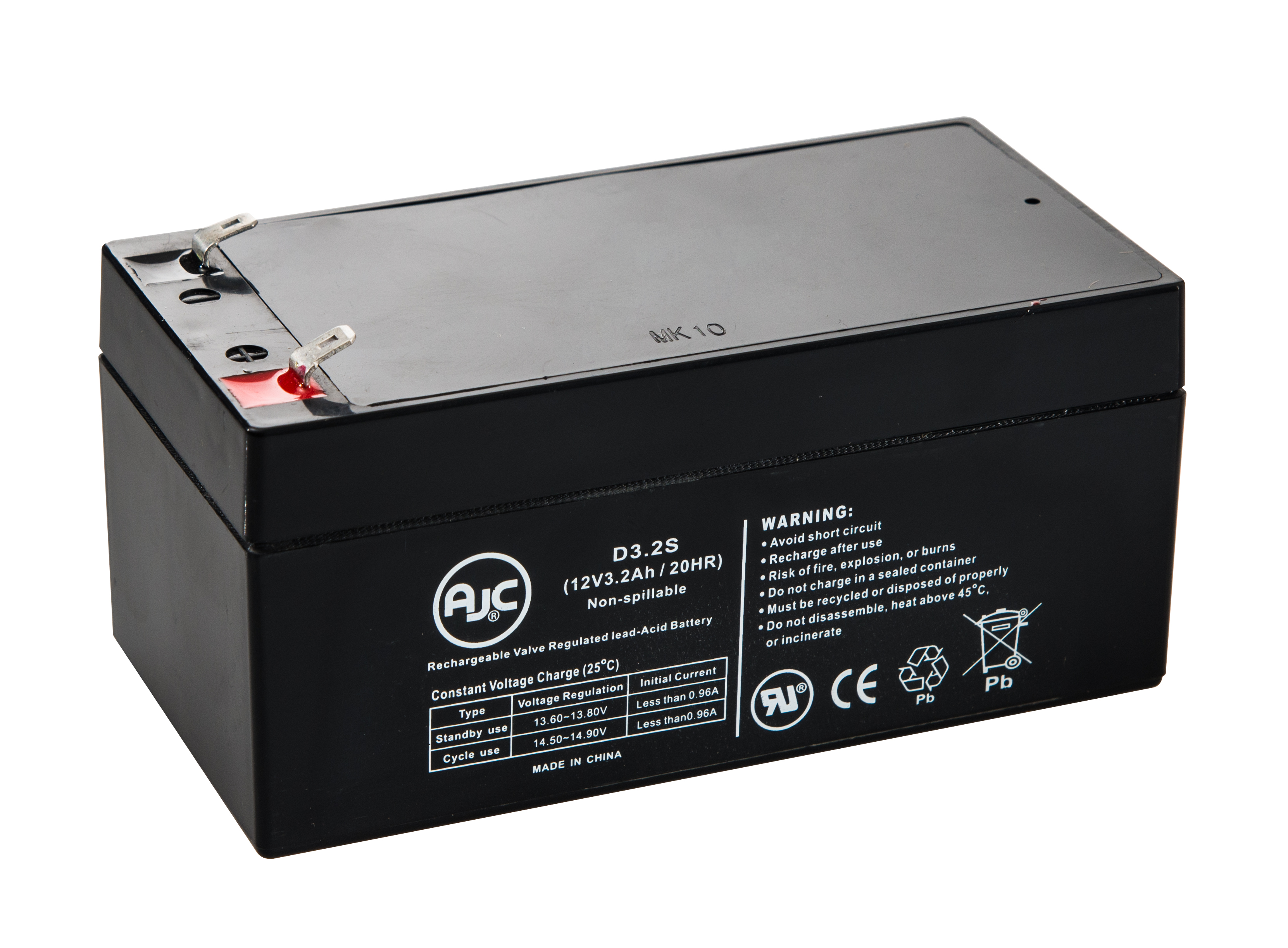APC Back-UPS ES 350, BE350C, BE350R 12V 3.2Ah UPS Battery This is an AJC Brand Replacement by AJC Battery