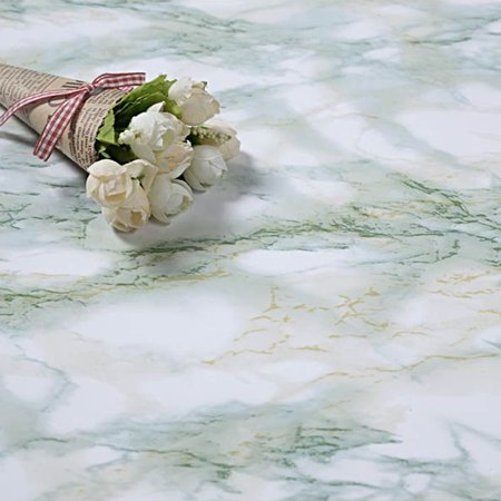 5m Thickened Waterproof Creative Granite Marble Effect Contact Paper Film Self Adhesive Peel Stick Wallpaper Wall Decoration - image 1 of 8