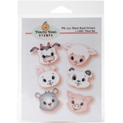 Peachy Keen Stamps Clear Face Assortment 6/Pkg-Black Eyed Critters