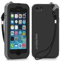 iPhone 5 Case, PUREGEAR BLACK/GRAY DUALTEK-XT EXTREME TERRAIN CASE with BUILT-IN SCREEN PROTECTOR + LANYARD FOR APPLE iPHONE SE 5 5s