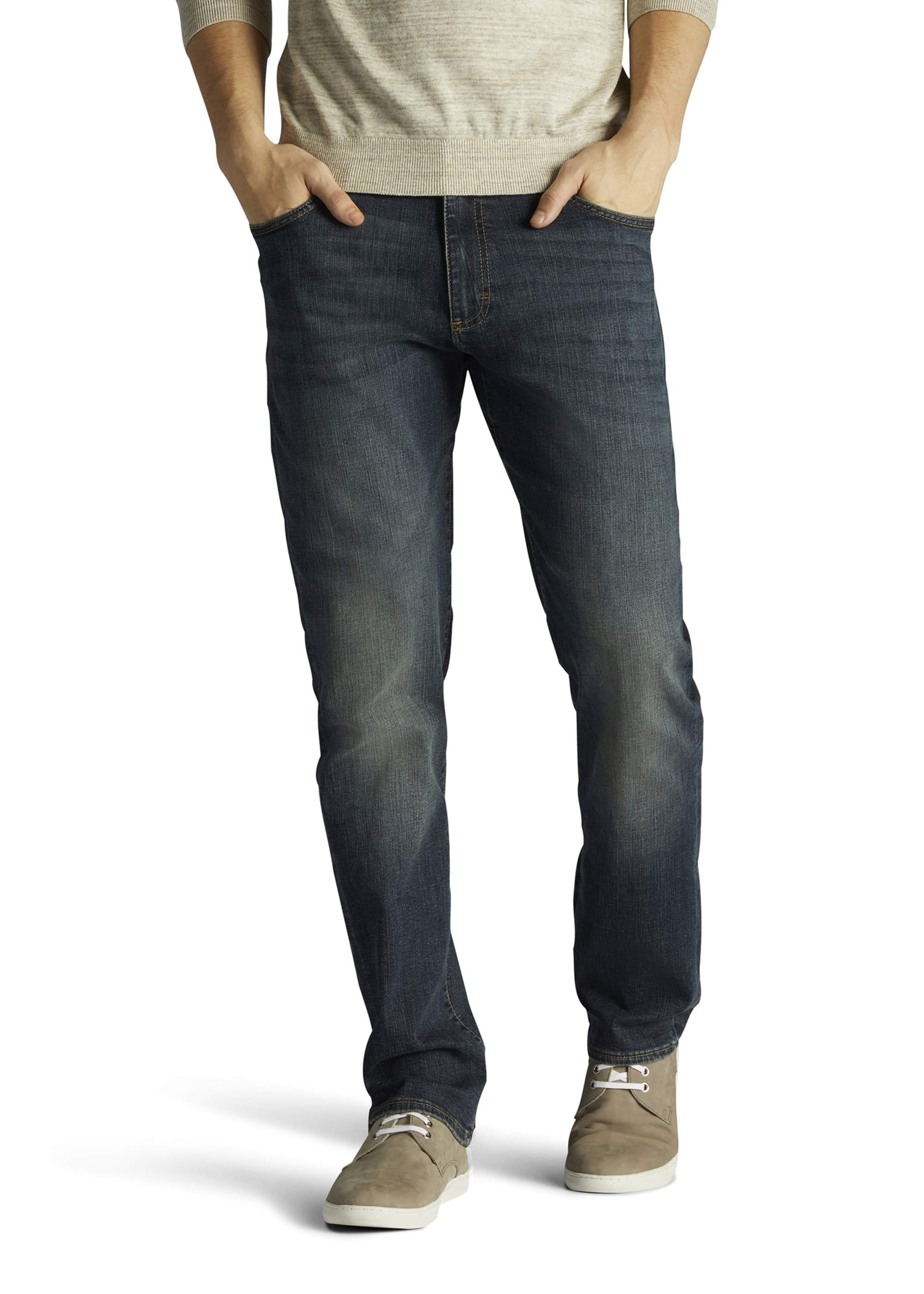 LEE Extreme Motion New Mens Super Stretchy Denim Jeans Tapered Straight Trip