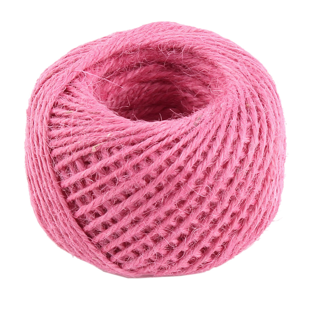 Jute Burlap Ribbon Twine Rope Cord String Wrap Roll Dark Pink 2mm Dia 50m Length