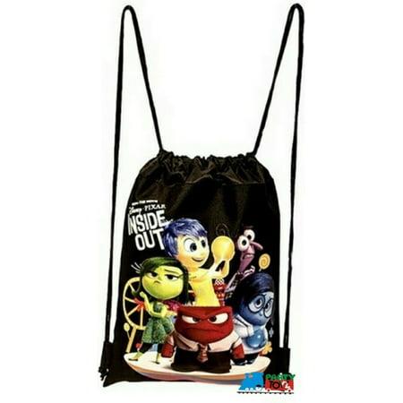 Drawstring Bag - Inside Out Black Cloth String Bag