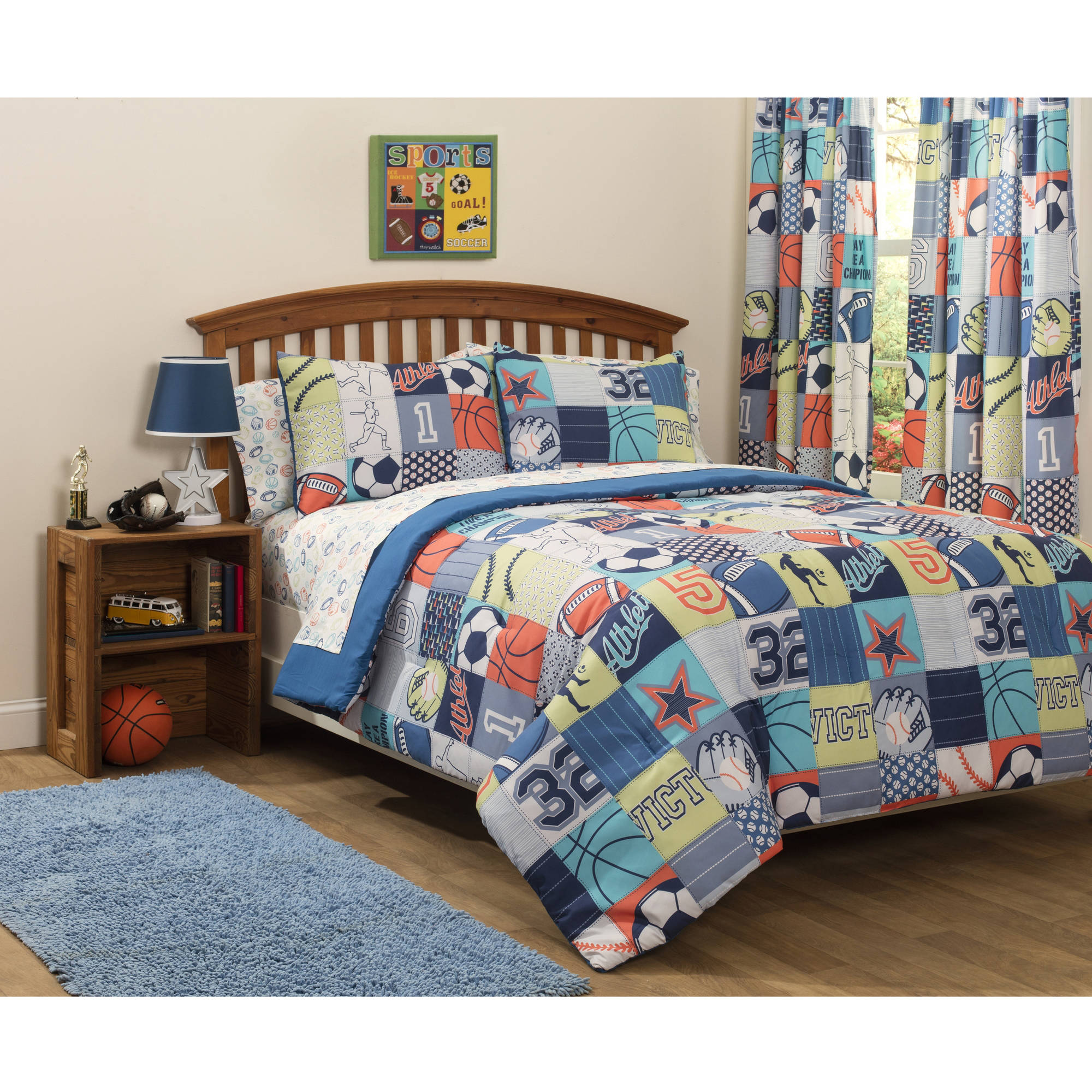 Mainstays Kids Play Like A Champion Bed in a Bag Bedding Set