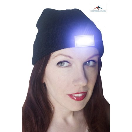 Extremely Bright Unisex 5 Led Knitted Flashlight Beanie Cap For Jogging  Hunting  Camping  Walking  Hiking  Construction One Size Fits Most