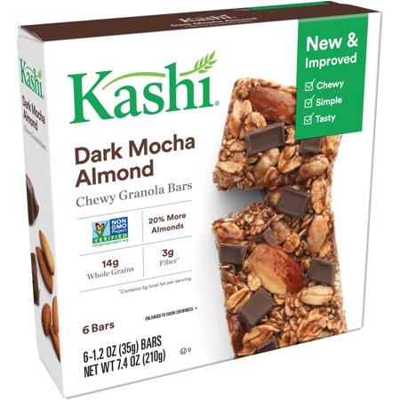 Calories Quaker Chewy Granola Bar ((2 Pack) Kashi Dark Mocha Almond Chewy Granola Bars, 1.2 oz, 6)