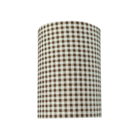 Aspen Creative 31113 Transitional Hardback Drum (Cylinder) Shaped Spider Construction Lamp Shade in Brown, 8