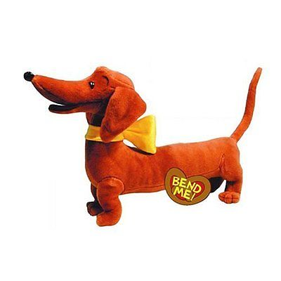Yottoy Pretzel the Dachshund Weiner Puppy Dog Stuffed Animal Plush Toy ()