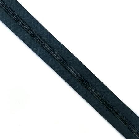 YKK #10C Nylon Zipper Tape Black - By The Yard