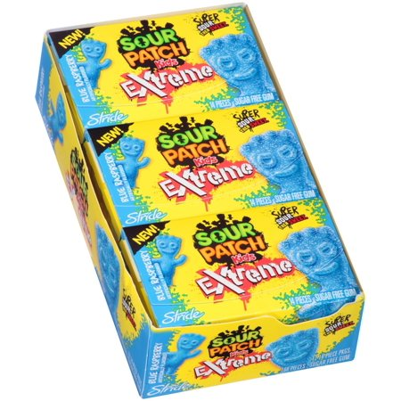 Sour Patch Kids Gum, Extreme Blue Raspberry, 14 Pc](Blue Frooties)