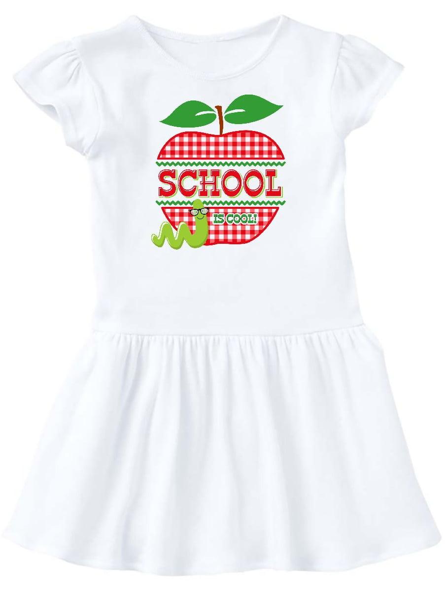 Apple School Is Cool Toddler Dress