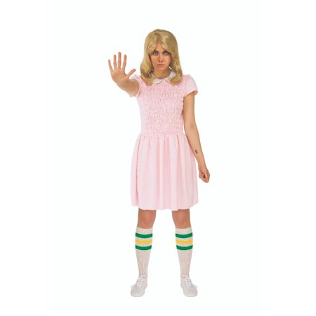 Eleven from Stranger Things Netflix Pink Dress Adult 821130](Elven Costumes)