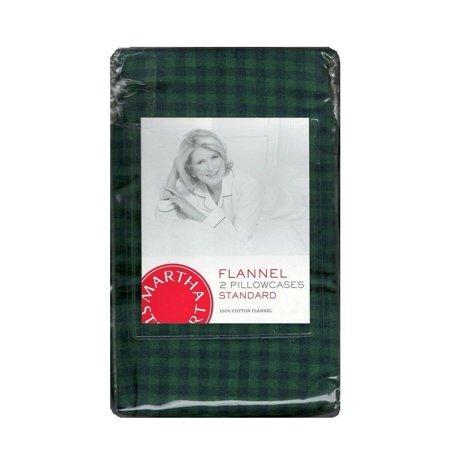 Martha Stewart Collection Warwick Cotton Check Flannel Standard Pillowcase Pair ()