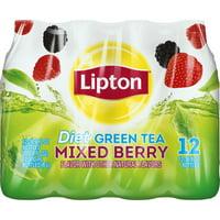 (2 Pack) Lipton Diet Green Tea, Mixed Berry, 16.9 Fl Oz, 12 Count