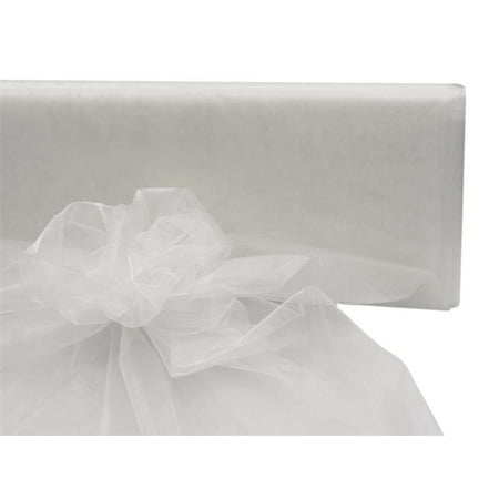 "54"" Wide x 40 yards Sheer Organza Fabric Bolt - White"
