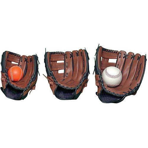 Sportime Genuine Leather Baseball Glove, Left-Handed