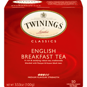 Twinings of London® English Breakfast Black Tea, Tea Bags, 50 Ct