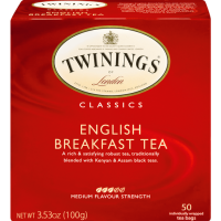Twinings of London, English Breakfast Black Tea, Tea Bags, 50 Ct
