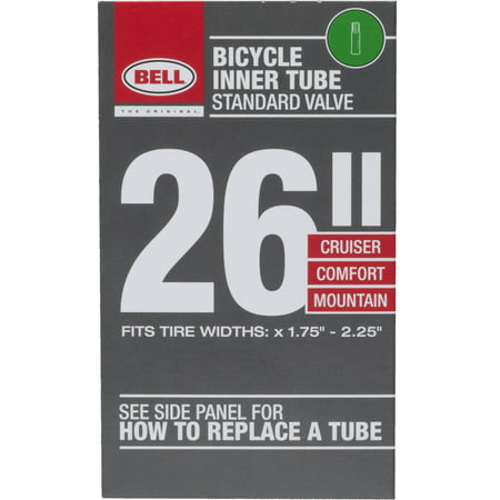 Bell Sports Standard Bicycle Inner Tube, 35mm Schrader Valve, 26