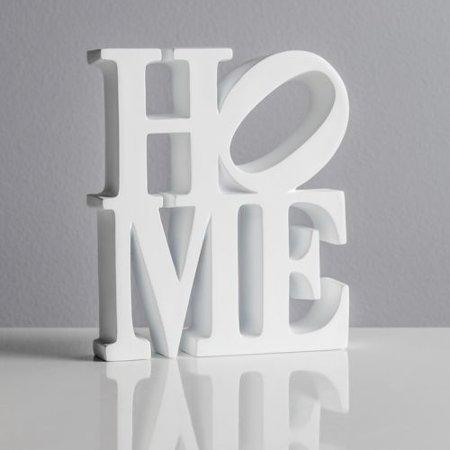 Torre & Tagus Word Art White Resin Decor - -