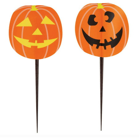 Pumpkin Halloween Toothpicks, 8pk](Painted Halloween Faces On Pumpkins)