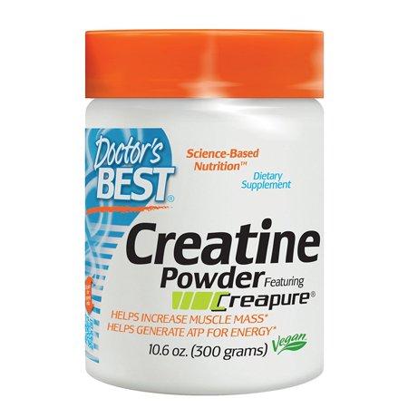 Doctor's Best Creatine Powder featuring Creapure, Non-GMO, Vegan, Gluten Free, 300 Grams, Doctor's Best Creatine Powder featuring Creapure helps to.., By Doctors
