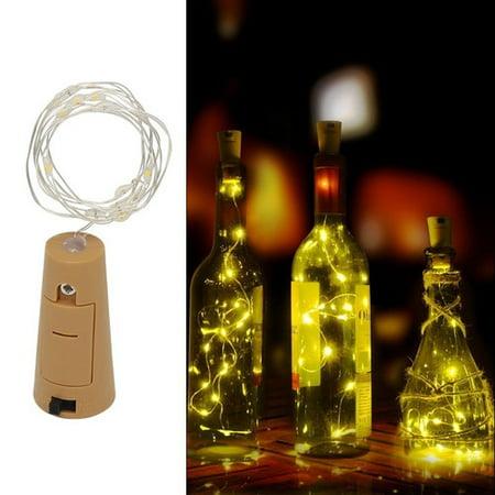 VicTsing 1M 10LED Wine Bottle Cork Lights String Lights for Wedding Festival Party Decor Light (Warm White) (Bottle NOT Included) One (Festival Light)